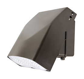 This slim wall pack has an adjustable tilt. It can be a full cutoff wall pack with only down light, or it can be angled to direct the light where needed. Suitable for security and illuminating walkways and entrances.