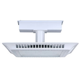 This gas station canopy light offers a sleek look while boasting a long life and optimal optical design. Incorporating Philips Lumileds LED, it has very high lighting efficacy.