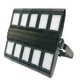 Suitable for use in stadiums, warehouses, and gymnasiums, this product features a high luminous intensity. It is compatible with backup batteries and motion sensors.