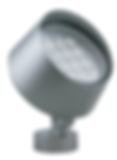 This flood light features a sleek, modern aesthetic. Many mounting options are available. Select models are available in RGB and RGBW.
