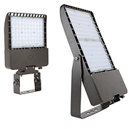 This high-power flood light has a luminous intensity of 21,000- 51,000 lumens. The waterproof light engine reduces the need for a glass lens, increasing the luminous output.
