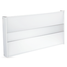 This troffer features a flat diffuser down the middle of the fixture, creating indirect light and reducing glare. It is ideal for replacing fluorescent troffers in offices, retail, and educational locations.