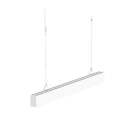 This LED linear light has a sleek profile and can be installed suspended or wall-mounted. The uniform light distribution prevents individual light spots from being seen. This architectural fixture is suitable for hotels, conference rooms, offices, and hospitals.