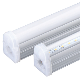 This T5 replacement fixture contains an integrated heat sink for improved thermal conductivity. Multiple segments can be hooked together (up to 200W) to create longer lengths using either a cable or seamless connector.
