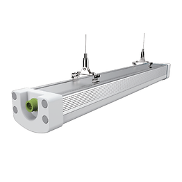 This fixture is water-proof, dust-proof, bug-proof, and pressure-proof. Available as a linkable model, up to 600 W can be connected in series. It is suitable for humid environments, making it ideal in underground parking lots, metro stations, airports, harbors, factories, outdoor playgrounds, indoor stadiums, supermarkets, shopping malls, etc.