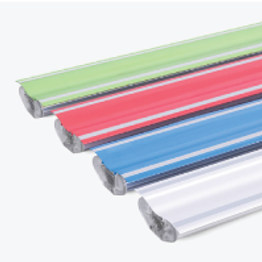 These linear fixtures have primarily up light when used with the lens cover. These fixtures are better suited for accent lighting rather than as a primary light source. A pop of color makes these fixtures suitable in environments with children such as schools and children's hospitals.