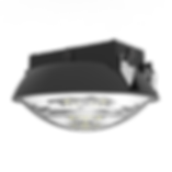 "This round garage fixture can be surface mounted or pole mounted. It has an optional microwave sensor with integrated daylight sensing. The sensor has predetermined programs for dimming options, or it can be customized. This fixture can be mounted flush, with a hook, or with a standard 1/2"" pole."
