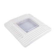 This canopy light is available with either an internal driver or external driver. The internal driver option features a die-cast aluminum body as an integrated heatsink. The external driver comes equipped with a junction box. The attached cable is 13 inches long.