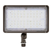 This flood light has a wide range of luminous intensity, making it suitable for a variety of applications. It features a cast aluminum housing with a watertight driver compartment sealed by a gasket.