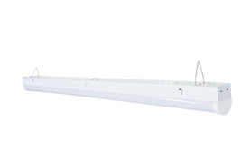 This linear strip light features a quick-disconnect to simply installation. It can be installed recessed, surface mount, or suspended.
