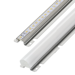 This retrofit kit can be used to upgrade linear fixtures to LED. It mounts to the fixture, eliminating the need for lamp sockets. The light module features an aluminum body, which functions as a heat sink and provides a mounting option.
