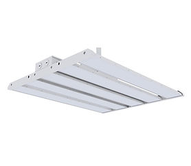 This linear high bay features a modular design. 2-6 modules can be assembled into a single fixture to provide a wide range of luminous intensity.