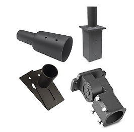 """These adapters are for use with 2 3/8"""" tenon. They can be used to mount fixtures onto 3"""", 4"""" and 5"""" poles. Works with round and square poles."""
