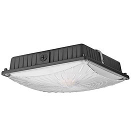 Ideally suited for indoor and outdoor applications in parking structures, storage areas, processing plants, indoor stadiums and gas stations, this ultra-slim canopy fixture is certified for wet applications and carries a 5-year warranty.