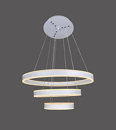 The Agnes pendant is circular with up/down light. It comes standard with 0-10V dimming; TRIAC and DALI are optional. Available as single rings or tiers of 2-5 rings.