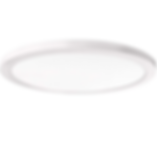 "This 12"" round fixture is only 1/2 inch thick, making it ideal for low ceilings and minimalists. It can be used indoors and outdoors in locations such as bathrooms, kitchens, porches, patios, and soffits."
