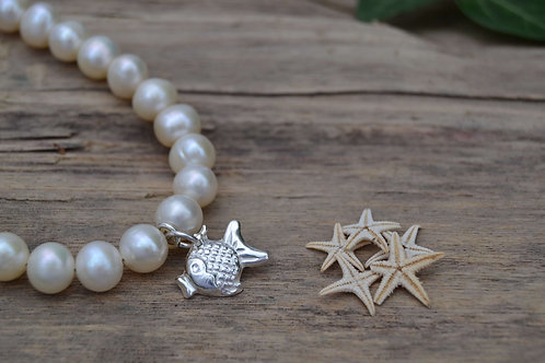 Freshwater Pearl and Fish Bracelet
