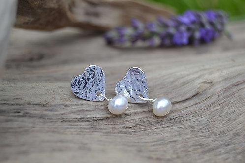 I Heart Pearl Earrings