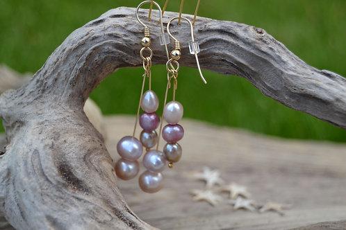 Sunset Pearl Drop Earrings