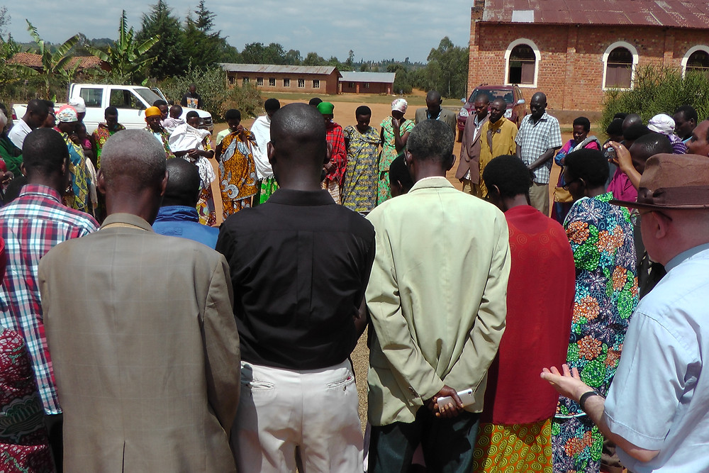 Praying for God's blessing on community farming