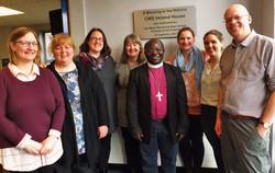 Bishop Desire with CMSI Staff