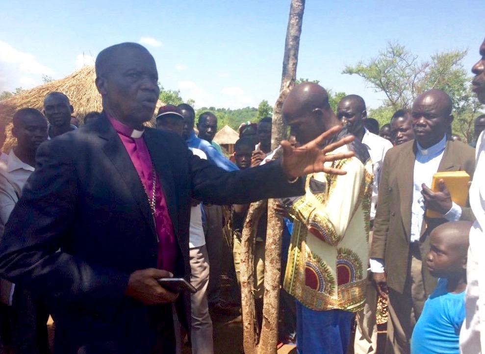 Bishop Hilary in Rhino Camp
