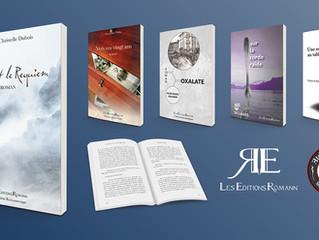 Les Éditions Romann: création ligne graphique livres