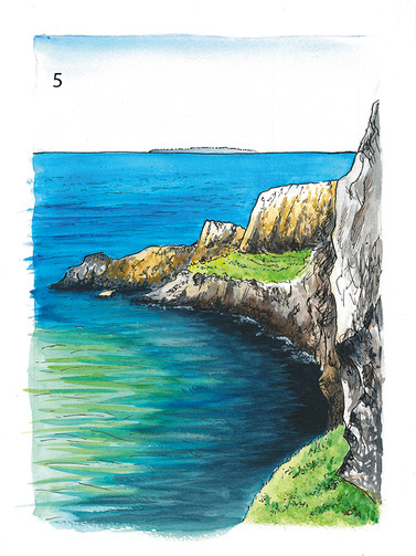 Carrick-a-rede on sunny day