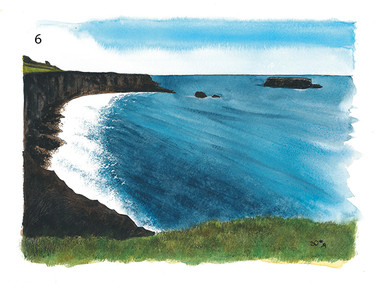 View from Carrick-a-Rede on sunny day