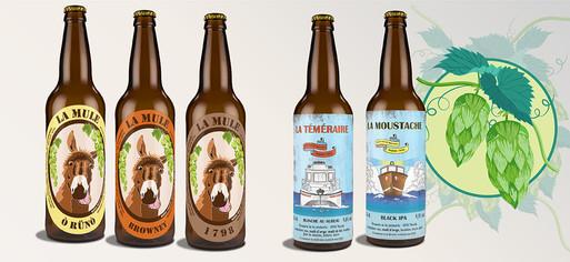 Création étiquettes de bière