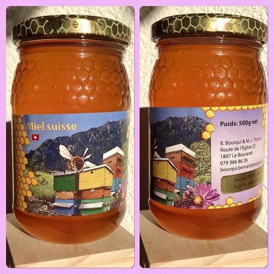 Création étiquettes de miel