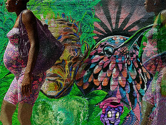 Woman and Ghost in Graffiti