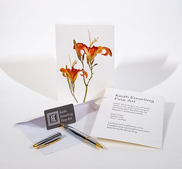 Day Lilies 7x5 Greeting Card
