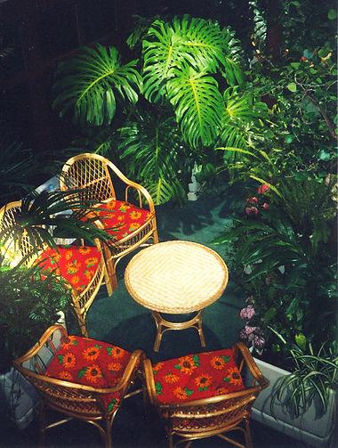 Садовая мебель в зимнем саду