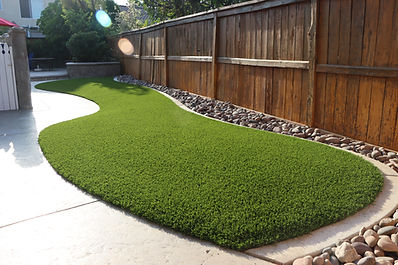 All Season Turf Finished with Rocks June
