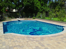All tile pool by Huntington Pools