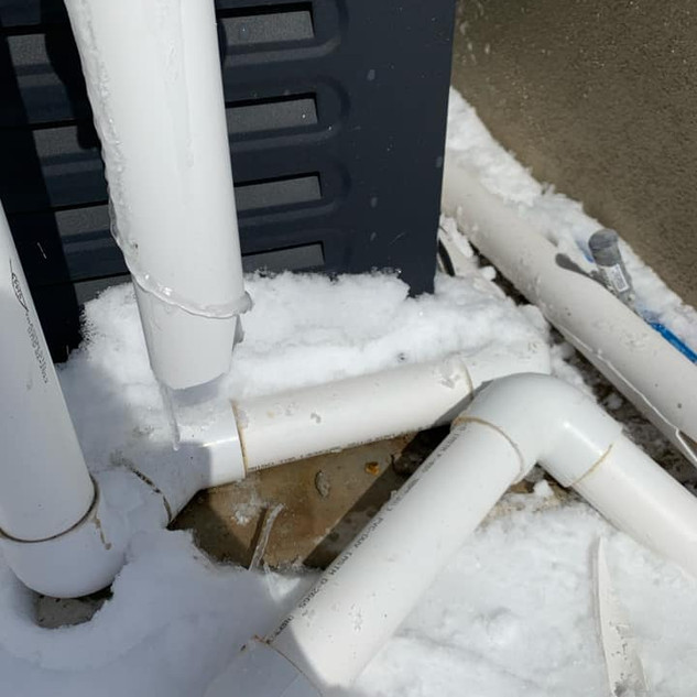 cracked pvc pipe from freezing weather
