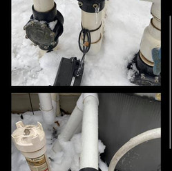 cracked pool equipment from freeze