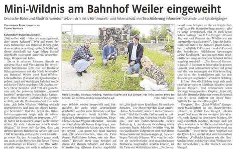 MINIWILDNIS AM BAHNHOF SCHORNDORF-WEILER
