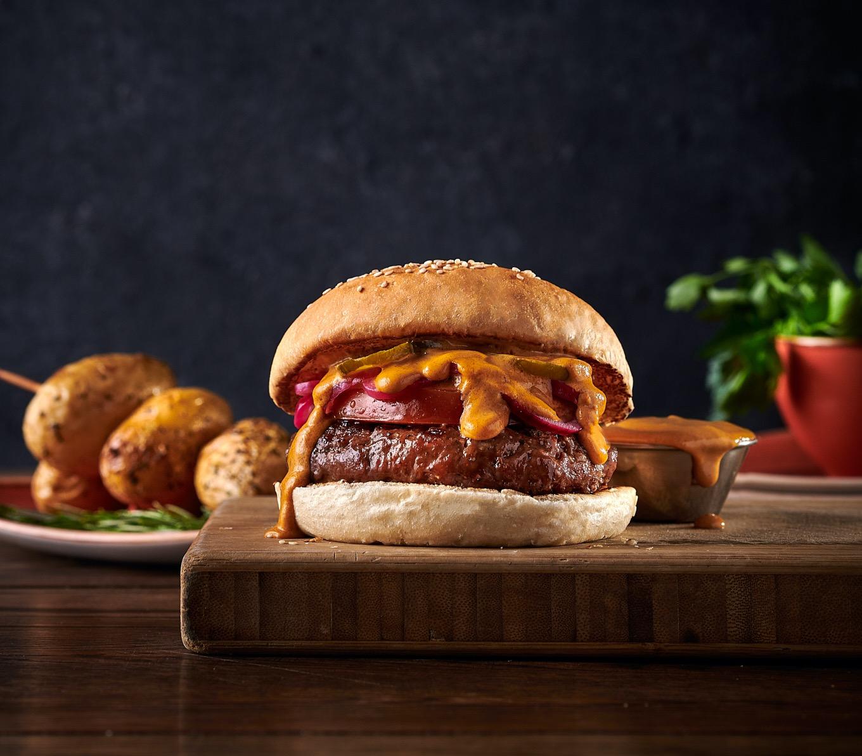 Hot Moo Mama Burger