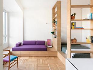 Minimalismo, cores e conforto