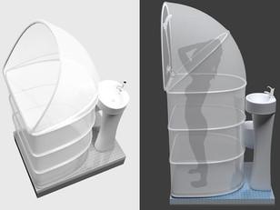 Outra boa solução para banheiro pequeno