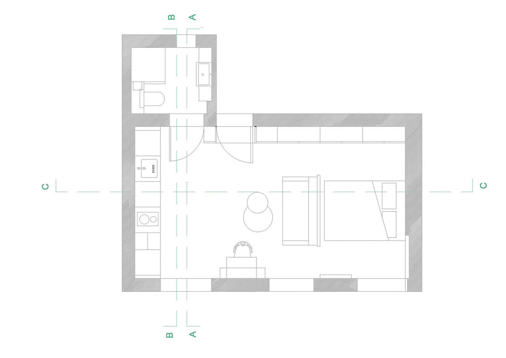 MNIMUM DESIGN TINY APARTMENT APARTAMENTO PEQUENO