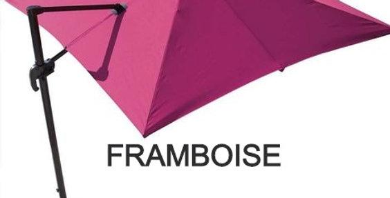 Parasol Déporté 3x3m (4 COLORIS Framboise, Taupe, Paprika, Gris)