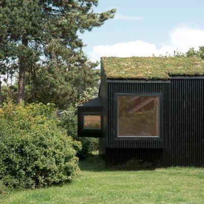 Casa de hóspedes feita de elementos naturais