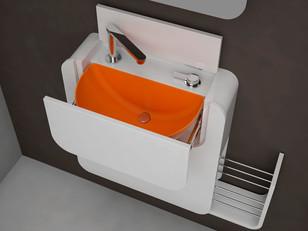 Solução para banheiros pequenos