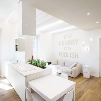 Apartamento todo em branco