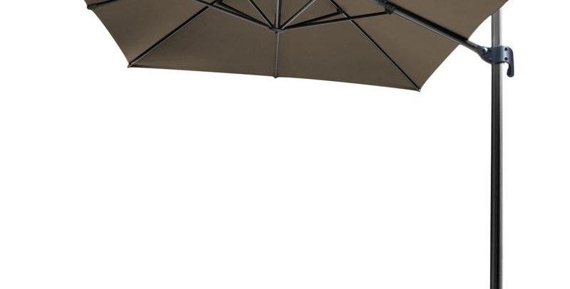 Parasol 4m x 4m Gris à fixer au sol (Socle en option)
