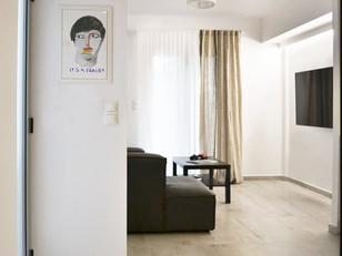 Pequeno apartamento em tons suaves