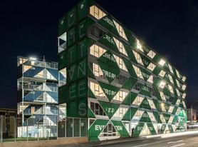 Edifício de contêineres lidera revitalização de bairro